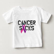Cancer Sucks - Thyroid Cancer Ribbon Baby T-Shirt