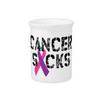 Cancer Sucks - Thyroid Cancer Ribbon Beverage Pitcher