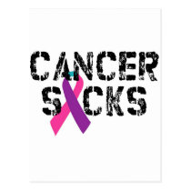 Cancer Sucks - Thyroid Cancer Ribbon Postcard