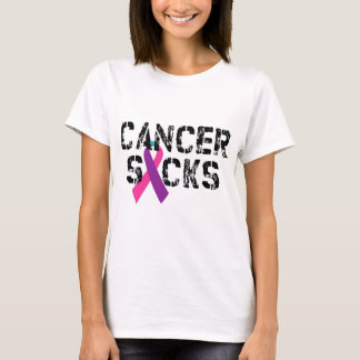 Cancer Sucks - Thyroid Cancer Ribbon T-Shirt