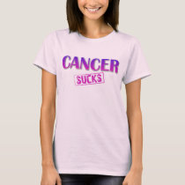CANCER SUCKS womens ladies t-shirt