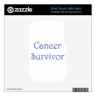 Cáncer Superviviente-Azul Calcomanías Para iPod Touch 4G