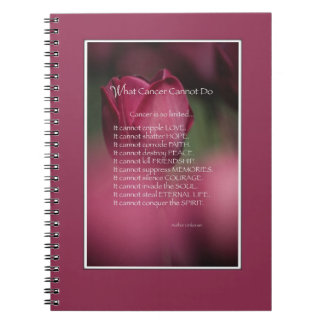 Cancer Support, What Cancer Cannot Do, Flowers Note Book