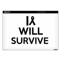 "cancer survive 17"" laptop skin"