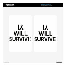 cancer survive kindle fire decal