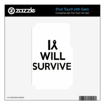 cancer survive skin for iPod touch 4G