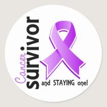 Cancer Survivor 19 Classic Round Sticker