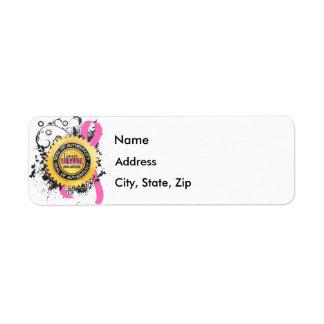 Cancer Survivor 23 Breast Cancer Return Address Label