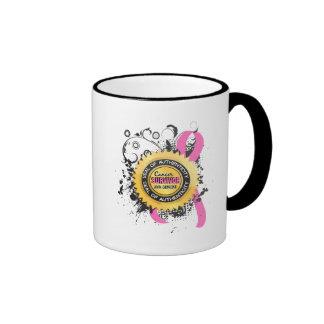 Cancer Survivor 23 Breast Cancer Ringer Coffee Mug