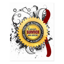 Cancer Survivor 23 Head Neck Cancer Postcard