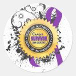 Cancer Survivor 23 Leiomyosarcoma Round Stickers