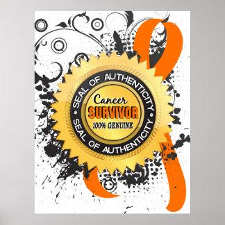 Cancer Survivor 23 Leukemia Poster