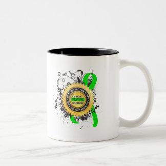 Cancer Survivor 23 Non-Hodgkin's Lymphoma Two-Tone Coffee Mug