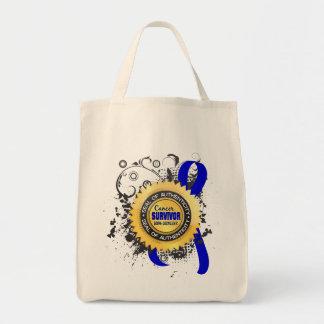 Cancer Survivor 23 Rectal Cancer Grocery Tote Bag