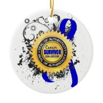 Cancer Survivor 23 Rectal Cancer Ceramic Ornament