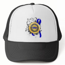 Cancer Survivor 23 Rectal Cancer Trucker Hat