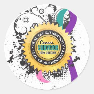 Cancer Survivor 23 Thyroid Cancer Classic Round Sticker