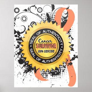 Cancer Survivor 23 Uterine Cancer Poster
