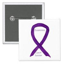 Cancer Survivor Awareness Ribbon Custom Pins