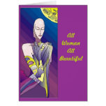 Cancer Survivor - Beautiful Woman Greeting Card