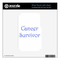 Cancer Survivor-Blue Decals For iPod Touch 4G