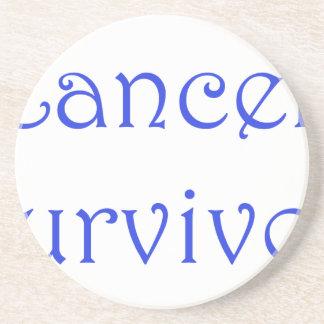 Cancer Survivor-Blue Sandstone Coaster