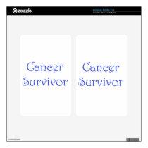 Cancer Survivor-Blue Skins For Kindle Fire