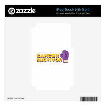 Cancer Survivor Decal For iPod Touch 4G