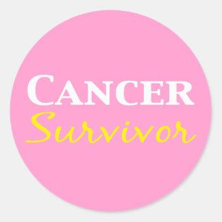 Cancer Survivor Gifts Classic Round Sticker
