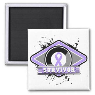 Cancer Survivor Grunge Logo Magnets