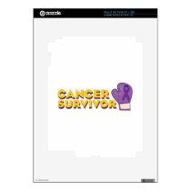 Cancer Survivor iPad 2 Skin