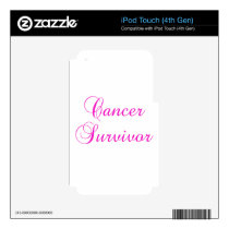 Cancer Survivor iPod Touch 4G Decal