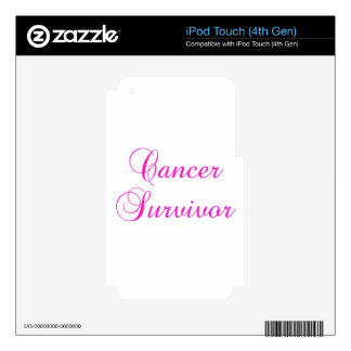 Cancer Survivor iPod Touch 4G Decal