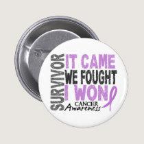 Cancer Survivor It Came We Fought I Won Button