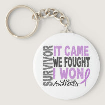 Cancer Survivor It Came We Fought I Won Keychain