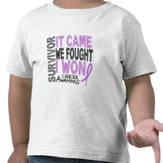 Cancer Survivor It Came We Fought I Won Tee Shirt