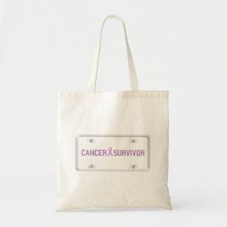 Cancer Survivor License Plate Bag