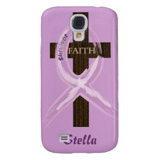 Cancer Survivor Ribbon on a Cross Galaxy S4 Case