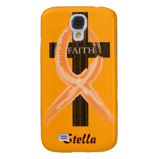 Cancer Survivor Ribbon on a Cross Galaxy S4 Cover