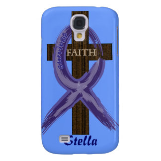Cancer Survivor Ribbon on a Cross Samsung Galaxy S4 Covers