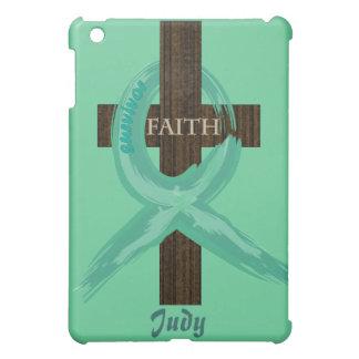 Cancer Survivor Ribbon on a Cross iPad Mini Case