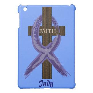 Cancer Survivor Ribbon on a Cross iPad Mini Cover