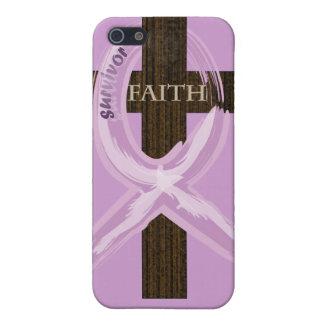 Cancer Survivor Ribbon on a Cross iPhone 5 Case