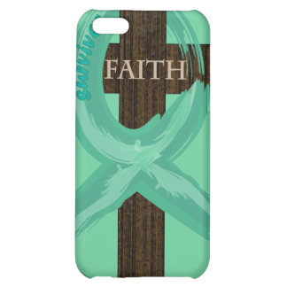Cancer Survivor Ribbon on a Cross Cover For iPhone 5C