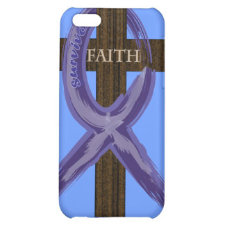 Cancer Survivor Ribbon on a Cross iPhone 5C Covers