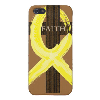 Cancer Survivor Ribbon on a Cross iPhone 5 Covers
