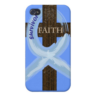 Cancer Survivor Ribbon on a Cross Cases For iPhone 4