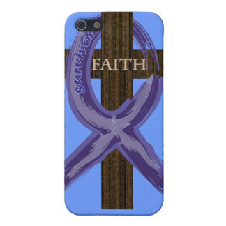 Cancer Survivor Ribbon on a Cross Cases For iPhone 5