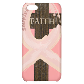 Cancer Survivor Ribbon on a Cross iPhone 5C Cases