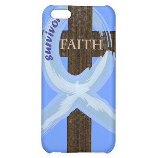 Cancer Survivor Ribbon on a Cross Case For iPhone 5C